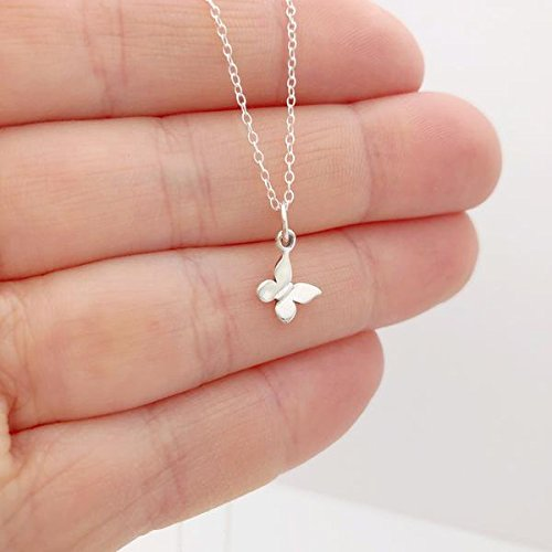 sterling silver butterfly necklace - 16 length