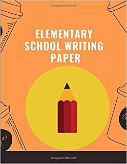 elementary writing paper: Notebook lined large : hand