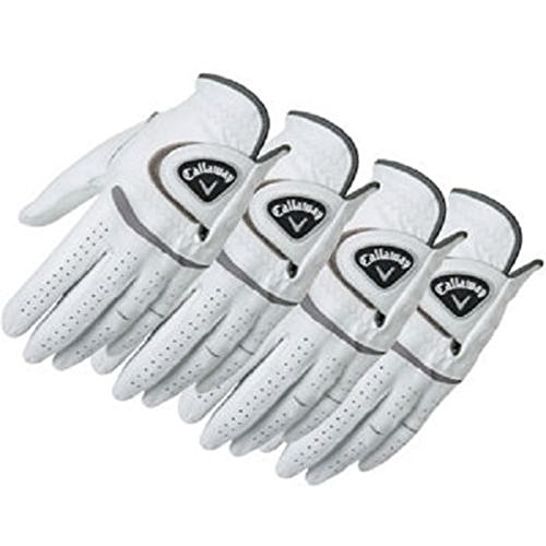 Callaway Men s Leather Golf Glove 4-pack Right Handed – Worn on Left Hand Large, Regular Worn on Left Hand
