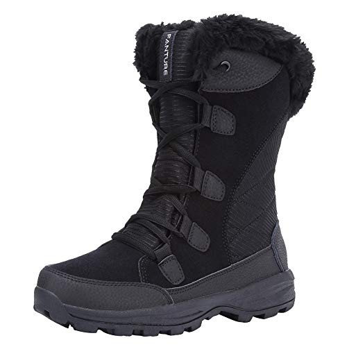 FANTURE Women's Waterproof Winter Snow Boots
