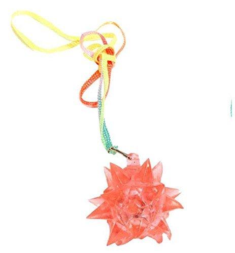 Light Up Flashing Star Led Ball Pendant Necklace