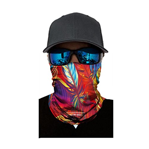 Shybuy Versatile Sports Casual Headwear, Wear as a Bandana, Neck Gaiter, Balaclava, Helmet Liner. Moisture Wicking Microfiber for Running, Yoga, Hiking, Travel (A, 25CM X - Micro Balaclava