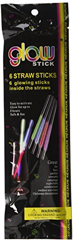 Darice 60 Piece Glow Straw Sticks