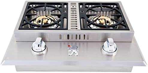 Lion Premium Grills L1707 Propane Gas Double Side Burner