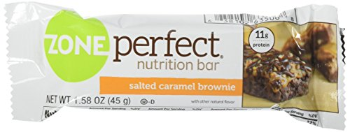 Zone Perfect Nutrition Bar, Salted Caramel Brownie, 1.58oz 1 Pack of 5 Bars For Sale