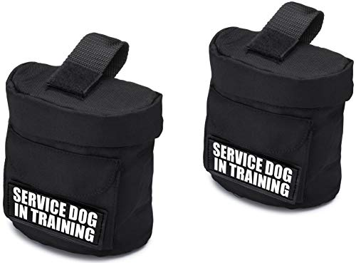 Industrial Puppy Service Dog in Training Vest Harness Saddle Bags with Service Dog in Training Patches - SDIT Backpack with Patch - Quality Back Pack Pouch with Pockets for Service Dogs Vests