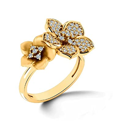3d8363b84fc65 Buy CaratLane 18K Yellow Gold and Diamond Ring Online at Low Prices ...