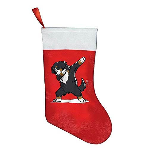 - TENEW Funny Dabbing Bernese Mountain Dog Personalized Christmas Stocking Christmas Decor 18