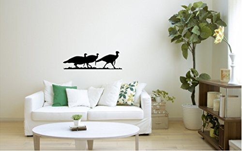 SBW Removable Wall Art Wild Turkey Silhouette Large in Black