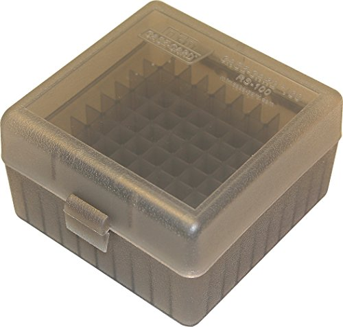 MTM 100 Round Rifle Ammo Box 17, 204, 223, 5.56x45, 6x47 ()