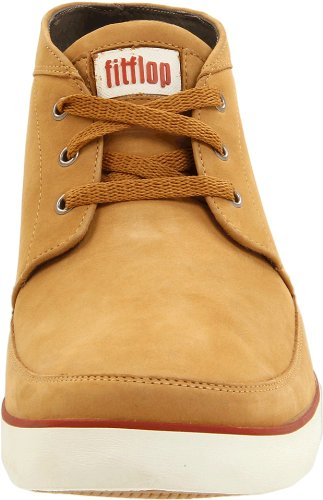 Fitflop Mens Bottines À Lacets Chukker Ambre Or