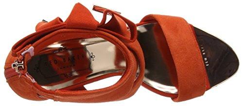 Noxen con Pulsera Baker Ff0000 Ted Sandalia 2 Mujer para Rojo Red HnT5Rq