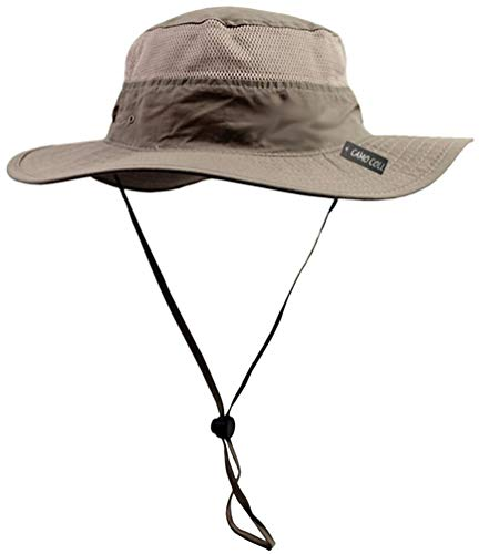 (Camo Coll Outdoor Sun Cap Camouflage Bucket Mesh Boonie Hat (Khaki, One Size))