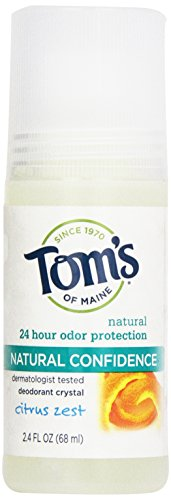 (Tom's of Maine Natural Confidence Roll On Deodorant, Citrus Zest, 2.4 Ounce)