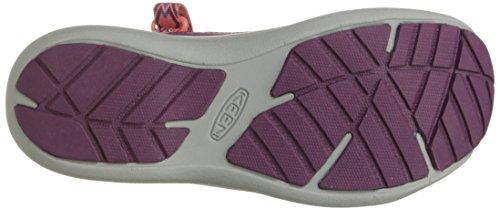 Keen Damen Sage Ankle W Durchgängies Plateau Sandalen Pink (Dark Purple/deep Coral)