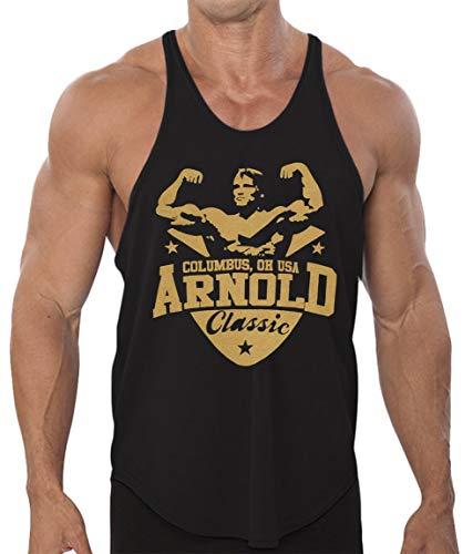 Arnold Schwarzenegger Classic Men's Stringer Tank Top (X-Large, 1 Dri-Fit Black)