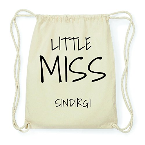 JOllify SINDIRGI Hipster Turnbeutel Tasche Rucksack aus Baumwolle - Farbe: natur Design: Little Miss 0qsqzXKI