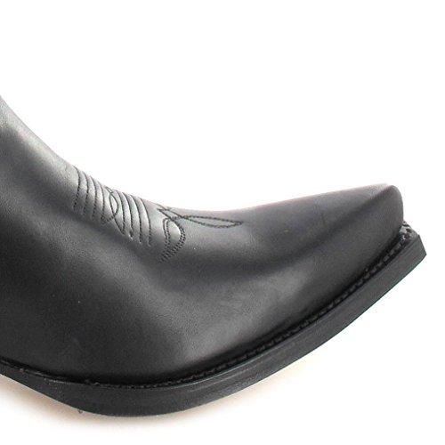 Vaquero 2073 de Negro De Negro Botas Sendra Snowbut cuero Boots unisex waqIPxR