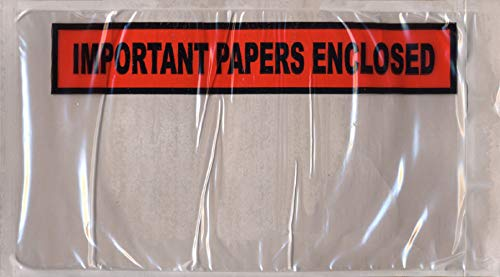 APQ Pack of 1000 Important Papers Packing Envelopes 5.5 x 10. Back Loading Shipping Mailers 5 1/2 x 10. Self-Sealing Envelopes for Documents, Instructions, Warranty Information. USPS, UPS, FedEx. from APQ Supply