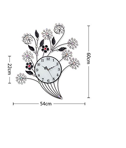 RFVBNM Classic clocks living room wall clock modern Chinese creative iron is simple and stylish european style personality clock 5460cm mute