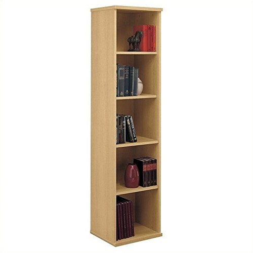 Bush Business Furniture Series C Collection 18W 5 Shelf Bookcase in Light - Shopping Go Bush