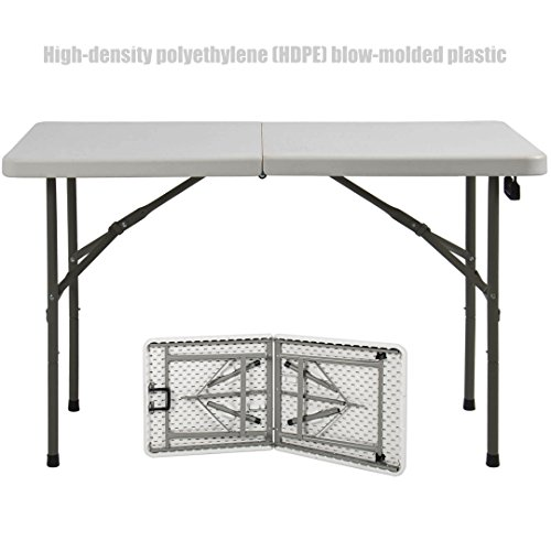 Heavy Duty Construction Light-weight Portable 4' Plastic Folding Indoor Outdoor Picnic Party Dining Camp Tables! # 286 (Outdoor In Stock Furniture Nyc)