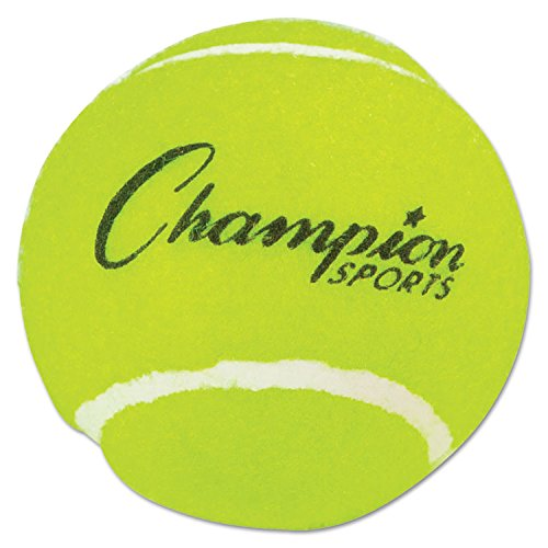 Champion Sports TB3 Tennis Balls 2 1/2-Inch Diameter Rubber Yellow 3/Pack