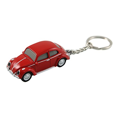- Volkswagen VW Classic Beetle Keychain Keylight Flashlight - Red