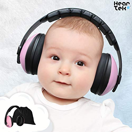 Baby Ear Protection - Noise Cancelling Muffs for Babies Infant Tots Toddler Child - Kids Hearing Protection Earmuffs - Sound Proof Noise Canceling Headphones - Ages Newborn to 3 Years - Pink (Pink Kids Earmuff)
