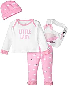kate spade york Baby Girls Four-Piece Gift Box, Swan, 3M by Global Brands Group - Quidsi