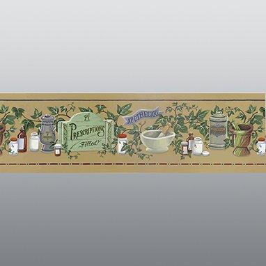 Divine Medical Pharmacy Motif Wallpaper Border