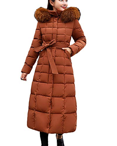 Marrón Largo De Caliente Abajo Acolchado Mujer Invierno Runyue Plumas  Chaqueta Abrigo Chaquetas Outerwear xqaaSf 96e3c3fa281a
