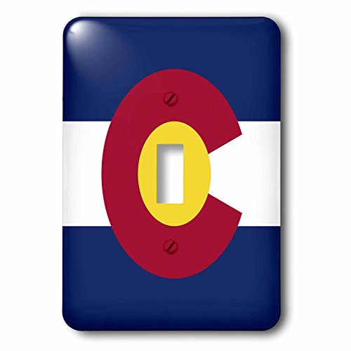 3dRose lsp_55386_1 State Flag Of Colorado (Pd-Us) Single Toggle Switch