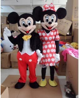 Adulto de Mickey Mouse y Minnie mascota disfraces de Halloween ...