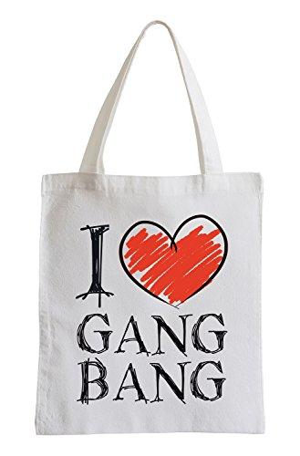 Amo gangbangs Fun sacchetto di iuta