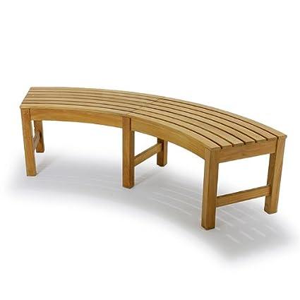 Cool Amazon Com Westminster Teak Buckingham Backless Bench Lamtechconsult Wood Chair Design Ideas Lamtechconsultcom