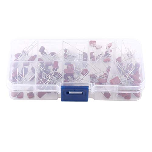 100pcs Capacitors, 10 Valued CBB Polypropylene Film Chip, 10nF ~ 470nF Industrial Electrolytic Capacitor Components Assortment Kit