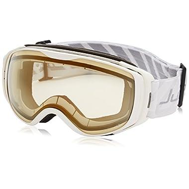 Julbo Women's Luna Goggles with Zebra Light Lens, White, Medium