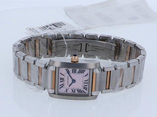 ピンクシェル文字盤 タンクフランセーズ レディース カルティエ SM W51027Q4 腕時計 CARTIER 【新品】