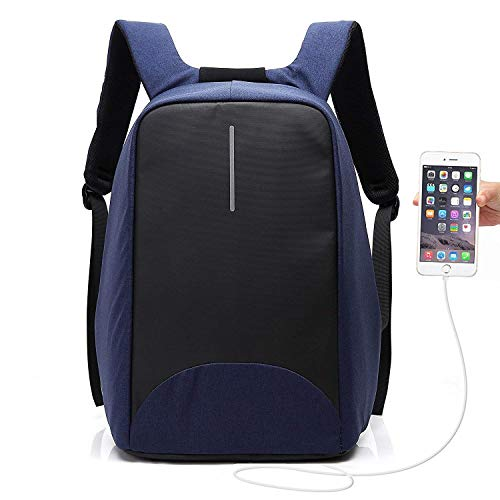 YEXIN Professional Business Backpack Bag with USB Charging Port, Slim Lightweight Laptop Bag, Water Resistant School Rucksack for Women Men, Fits 15.6 Inch Laptop and Notebook (Color : - Electronics Headphones Dual Consumer