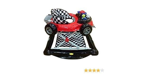 Andador y balancín para bebé, diseño fórmula 1 negro y rojo ...
