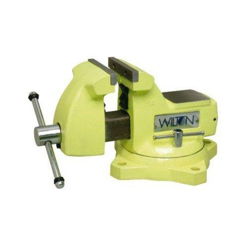 WILTON 1550 Vise, Safety, HiVis,5,5 1/4 Open