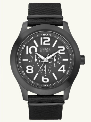 GUESS-Mens-Masculine-Casual-Watch-Black