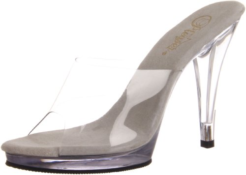 Tacones Fla401 Pleaser clear Transparente Mujer m Eu c 41 wgZFZx6