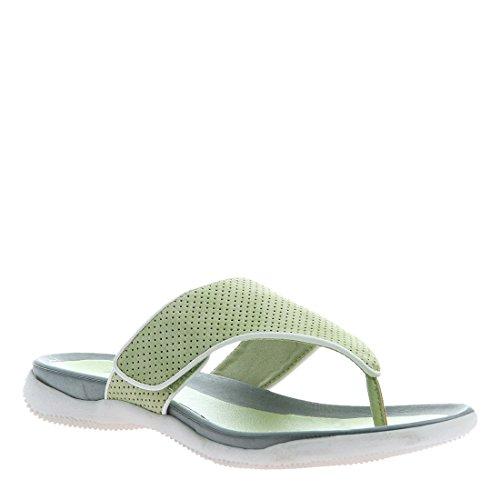 Axxiom Kvinners Yoga Flip Flop Sandaler, Limegreen - 7,5 M