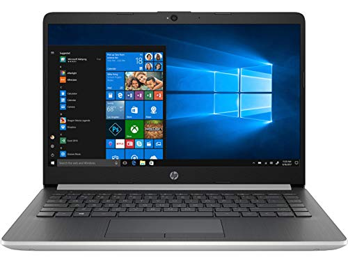 HP 14s cr1018TX 14-inch Laptop (8th Gen i5-8265U /8GB/1TB HDD + 256GB SSD/Windows 10 Home/MS Office/2 GB Graphics), Natural Silver