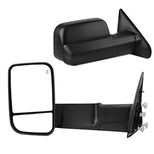 - Maxiii Tow Mirror Compatible for Dodge RAM 2002-2008 Dodge RAM 1500 Side Mirrors, 2003-2009 RAM 2500 3500 Truck Mirror, Power Heated Mirror Manual Fold