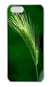 Beautiful green wheat PC Transparent most protective iphone 5 cases for Apple iPhone 5/5S