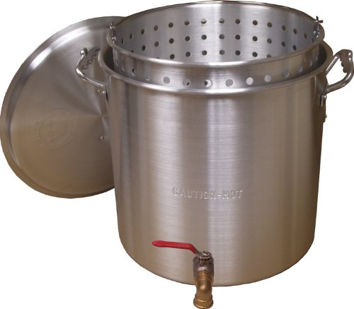 King Kooker KK120V Aluminum Boiling Pot, 120-Quart