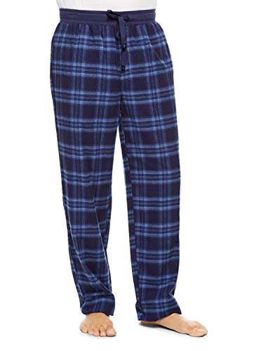 (Haggar Men's Plaid Sleep Pants   Cotton Flannel PJ Bottoms XXL)